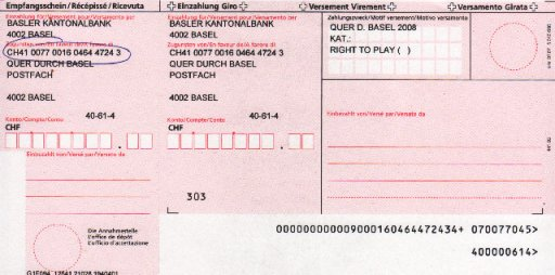 einzahlungen